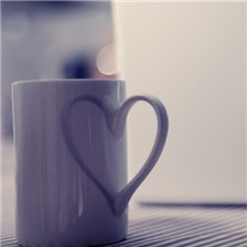 创意心形杯子唯美图片