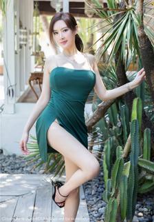 巨乳美女奶瓶土肥圆户外绿色连衣裙真空大胆人体艺术照