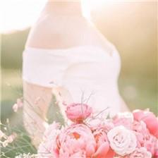 气质唯美的欧美女生婚纱图片