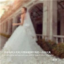 超美带字的梦幻婚纱图片大全